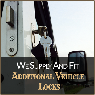 We supply and fit additional vehicle locks